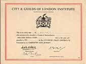 City & Guils of London Institute Advanced Craft Carpentry and Joinery Certificate