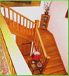 Oak used in the construction of this staircase was salvaged